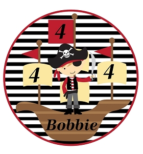 Pirate Ship Birthday T-Shirt or Onesie Personalized