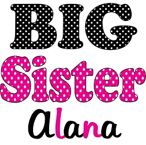 Personalized Polka Dots Big Little Middle Sister TShirt or Bodysuit