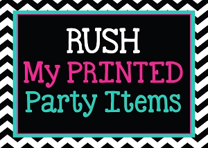 RUSH SHIPPING FOR PRINTED ITEMS