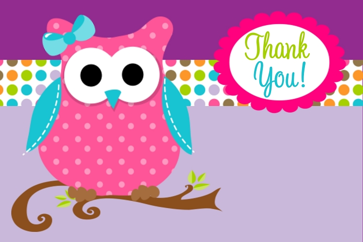 owl thank you cards Quotes