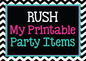 RUSH SHIPPING FOR PRINTABLE INVITATIONS - Receive within 12 Hours
