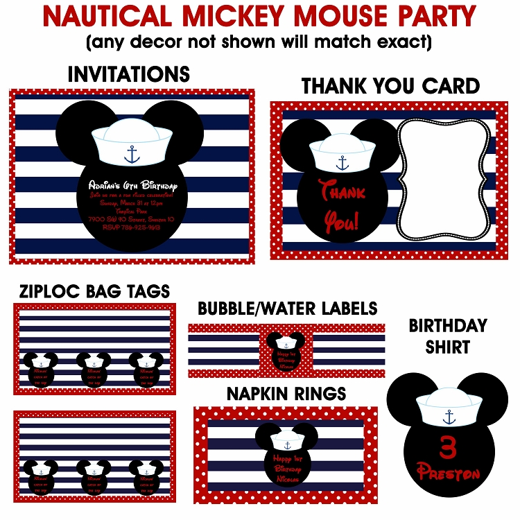 mickey mouse printable invitations