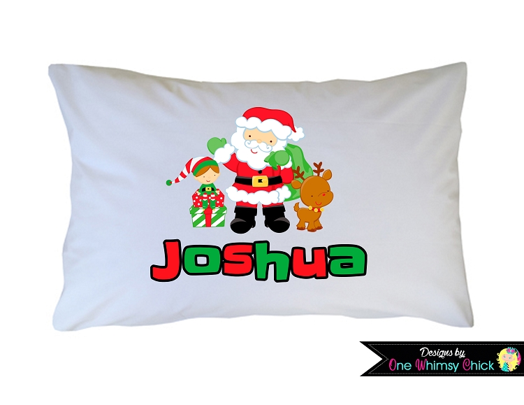 gingerbread boy christmas holiday pillow case