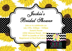 Sunflower Bridal Shower Invitation - Wedding Invitations