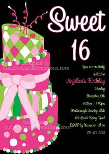 Sweet Sixteen Invitations - Quinceanera Invitations