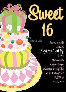 Alice in Wonderland Sweet 16 Invitation - Quinceanera Invitations