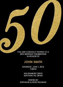Gold and Black Invitations - Can be customized for any event