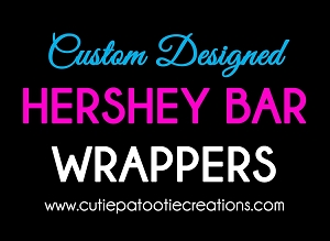 Personalized Candy Bar Wrappers - Chocolate Bar Wrapper with your Text or Logo