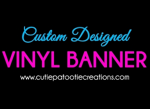 Personalized Vinyl Banner for Your Candy Bar - We can personalized with your Wording or Logo