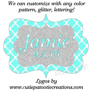 Monogram Bat Mitzvah Logo - Custom Color and Pattern Available