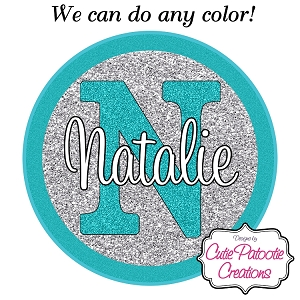 Tiffany Blue and Silver Glitter Bat Mitzvah Logo - Custom Colors Available