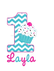 Personalized Pink and Turquoise Chevron Birthday T-Shirt or Bodysuit