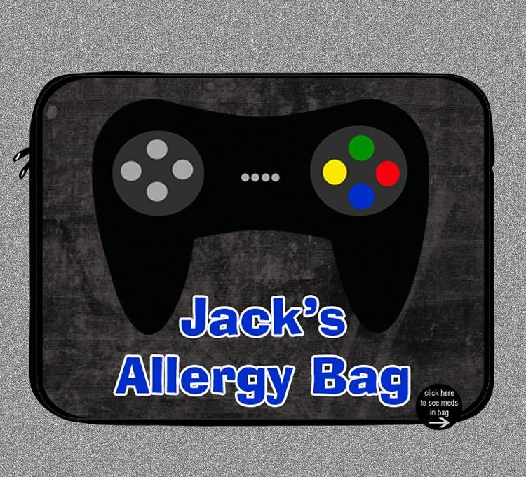 Personalized Video Games Allergy Medicine Bag Epipen Auvi Q
