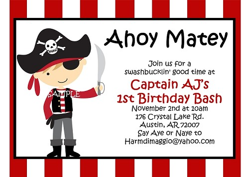 Pirate birthday invitations printable or printed party invite filmwisefo