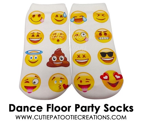 EMOJI Smiley Faces Dance Floor Party Socks For Bar Or Bat Mitzvah