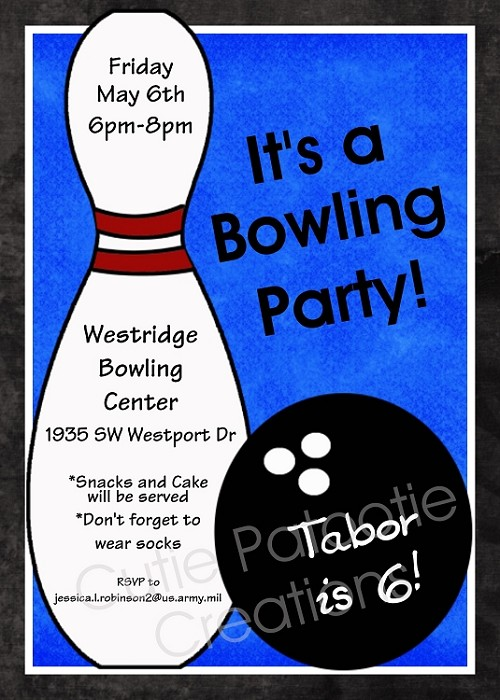 Bowling birthday party invitations for boys filmwisefo Choice Image