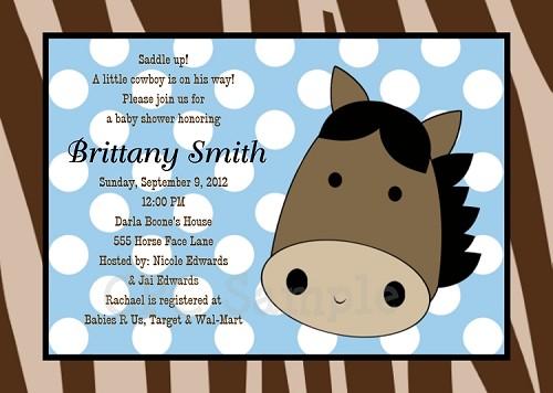 Western cowboy baby shower invitations filmwisefo