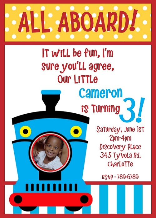 Choo Choo Train Birthday Party Invitation - Printable Digital Design