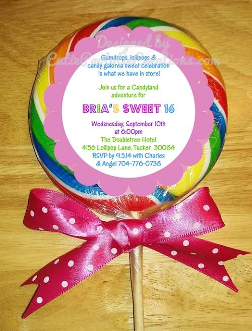 Lollipop birthday party invitation filmwisefo
