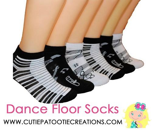 Dance Floor Party Socks Music Piano Pattern Socks