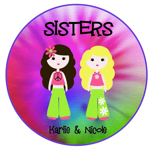 Personalized Sisters Best Friends TShirt BFF Shirt for Girls, Teens and Twins