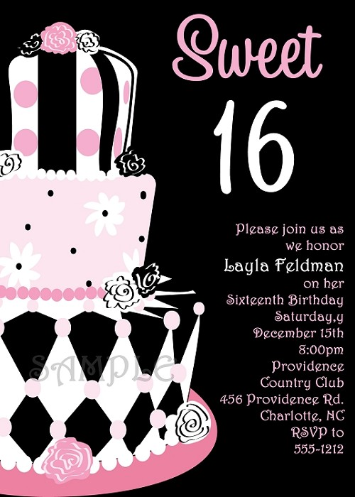 Sweet 16 birthday invitations quinceanera invitations filmwisefo
