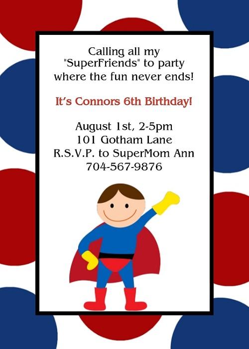 Superman Birthday Invitation Superhero Birthday Invitation – Superman Birthday Invitations