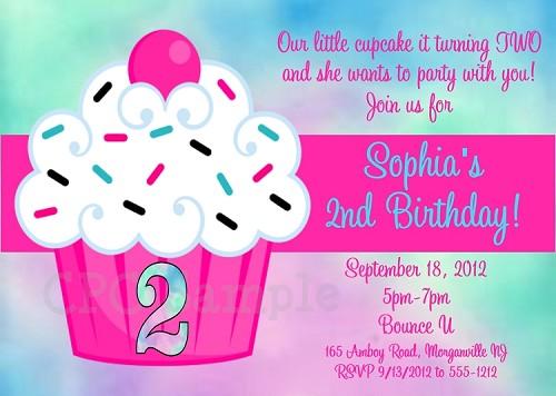 Tie dye cupcake birthday party invitation filmwisefo