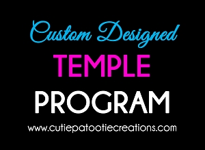 Custom Designed Temple Program Made to Match Your Theme