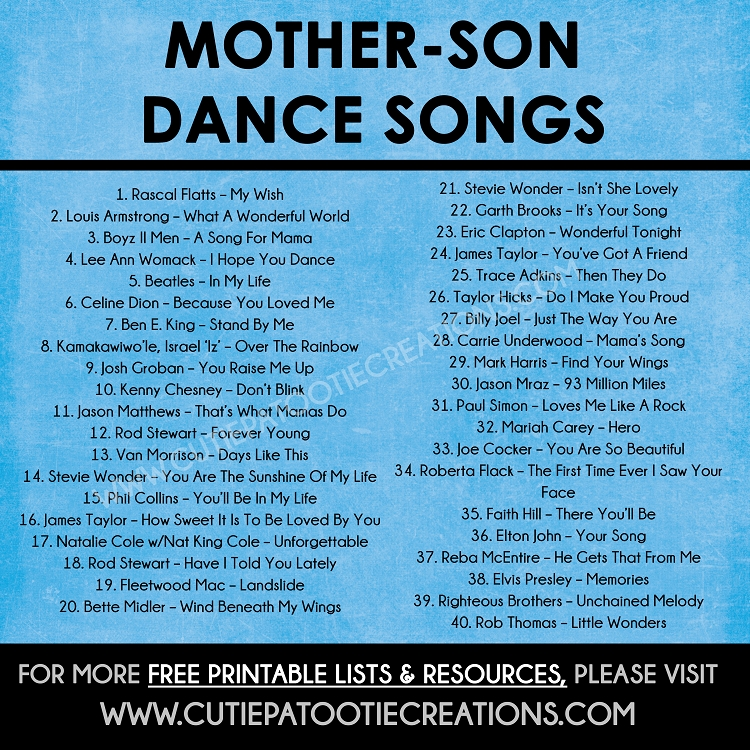 Mother Son Dance Songs For Mitzvahs And Weddings