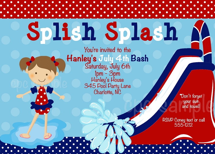 July 4th Birthday Invitations