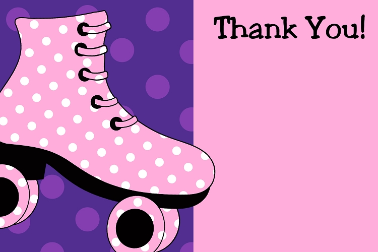 Pink And Purple Polka Dots Background Roller Skating