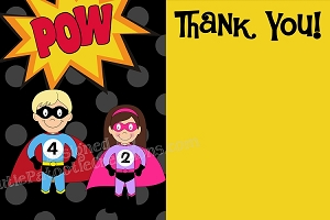 Superhero Thank You Cards