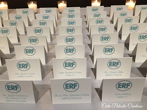 Personalized Monogram Logo Bat Mitzvah Place Cards - Custom Colors Available