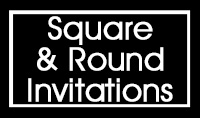 SQUARE & ROUND MITZVAH INVITATIONS