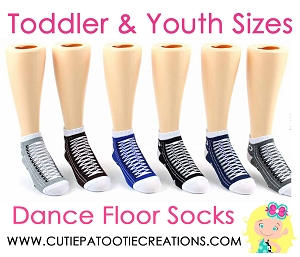 Dance Floor Party Socks -  Sneaker Style Mitzvah Socks for TODDLER and YOUTH
