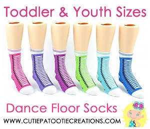 Dance Floor Party Socks -  Bright Colors - Sneaker Style Mitzvah Socks for TODDLER AND YOUTH