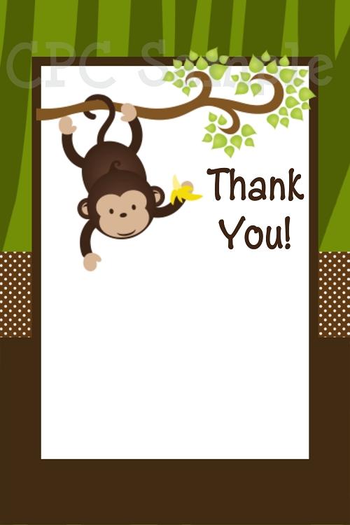 Monkey Safari Birthday Invitations