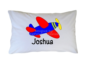 Personalized Airplane Pillow Case for Kids, Adults and Toddler