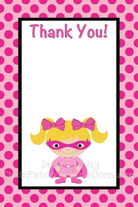 Batgirl Superhero Thank You Cards