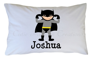 Personalized Batman Superhero Pillow Case for Kids, Adults and Toddler
