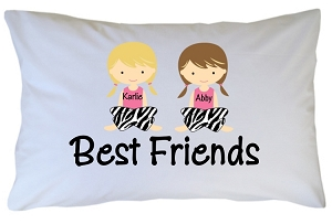 Personalized Best Friends Pillow Case for Kids, Adults and Toddler