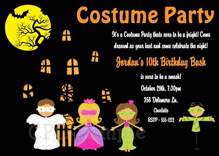 Halloween Party Invitations For Kids