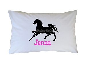Personalized Black Stallion Pillow Case for Kids, Adults and Toddler