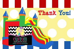 Bounce Castle Thank You Cards