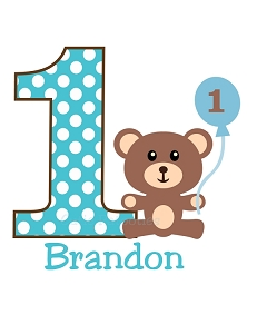 Personalized Boys Teddy Bear T-Shirt or Bodysuit