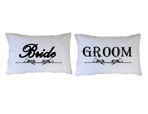 Personalized Bride Groom Pillow Case for Kids, Adults and Toddler