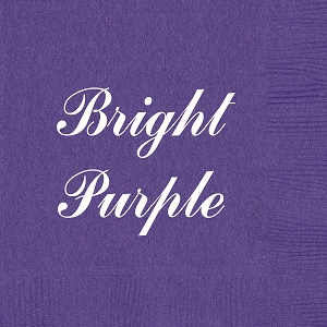 Personalized Bright Purple Napkins - Beverage, Cocktail, Dinner & Guest Towels