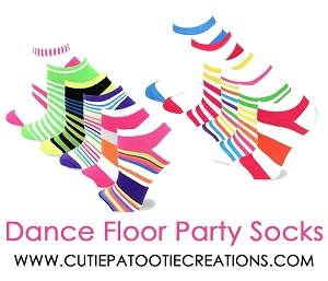 Dance Floor Party Socks with Candy Stripes and Dots
