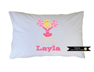 Personalized Cheerleader Pillow Case for Kids, Adults and Toddler